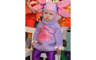 Как изготовить карнавальный костюм «Лунтика» для ребенка?