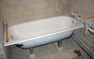 Как установить слив в стальную ванну и проложить канализацию под фундаментом